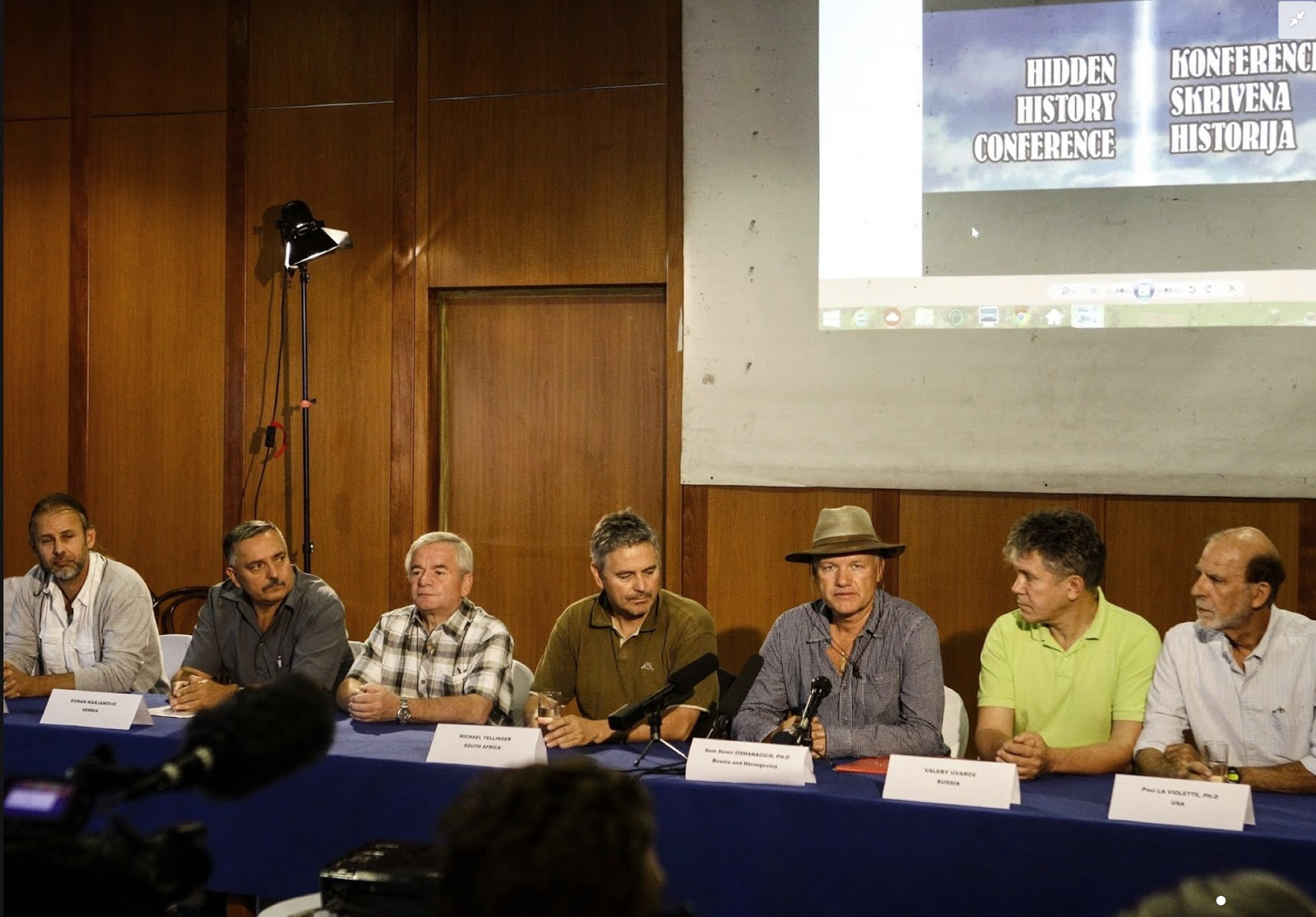 Fifth International Scientific Conference on the Bosnian Pyramids (ICBP 2014) September 6, 2014 Press Conference great photo copy