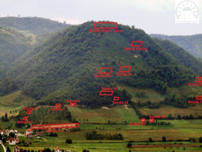 Sonda excavations and terraces on the Bosnian Pyramid of the Moon 2008